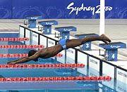 Alein auf weiter Flur: Eric Moussambani musste die 100 Meter Freistil alleine zurücklegen