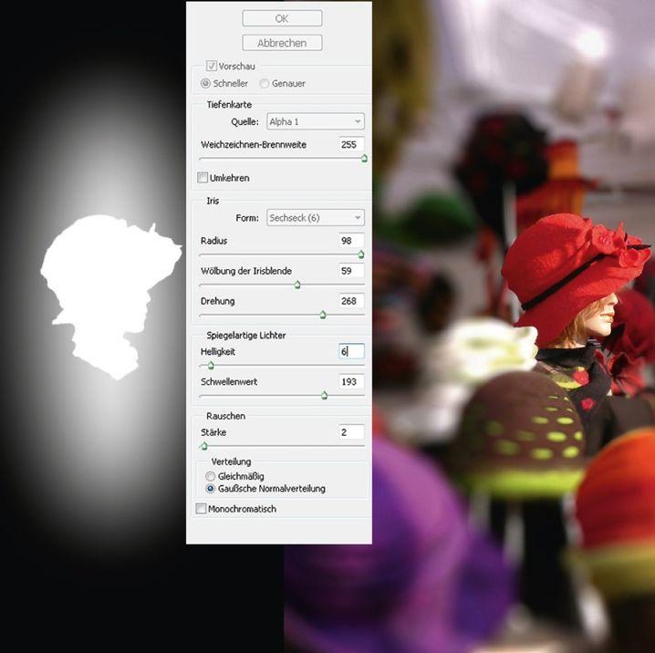 Bokeh-Effekt per Photoshop: Die Maske entsteht per Schnellauswahlwerkzeug
