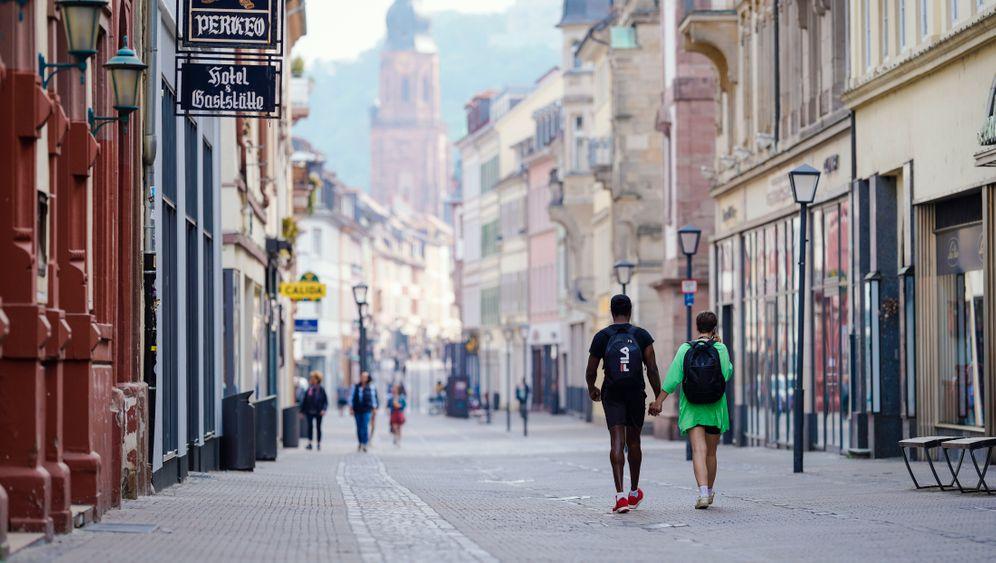 Fußgängerzone in Heidelberg