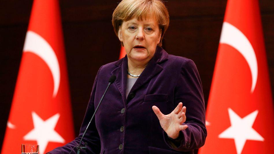 """Merkel in Ankara: """"Das, was sich an der türkisch-syrischen Grenze zeigt, ist das große Leid"""""""