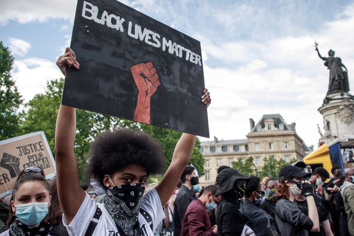 Black Lives Matter-Proteste in Paris, Frankreich