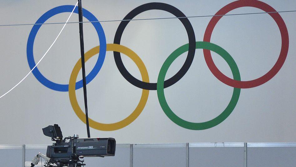TV-Kamera vor Olympischen Ringen: Teure Rechte