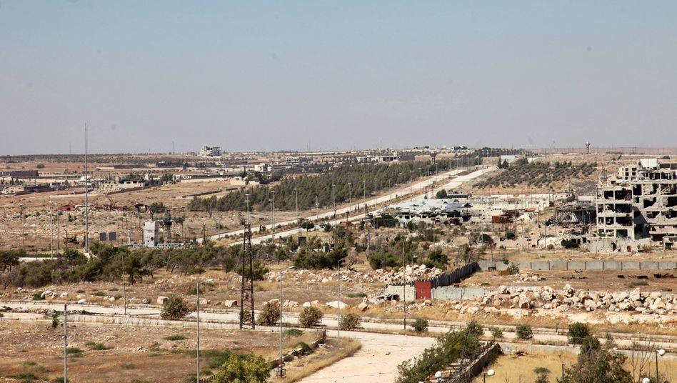Straße nahe Aleppo