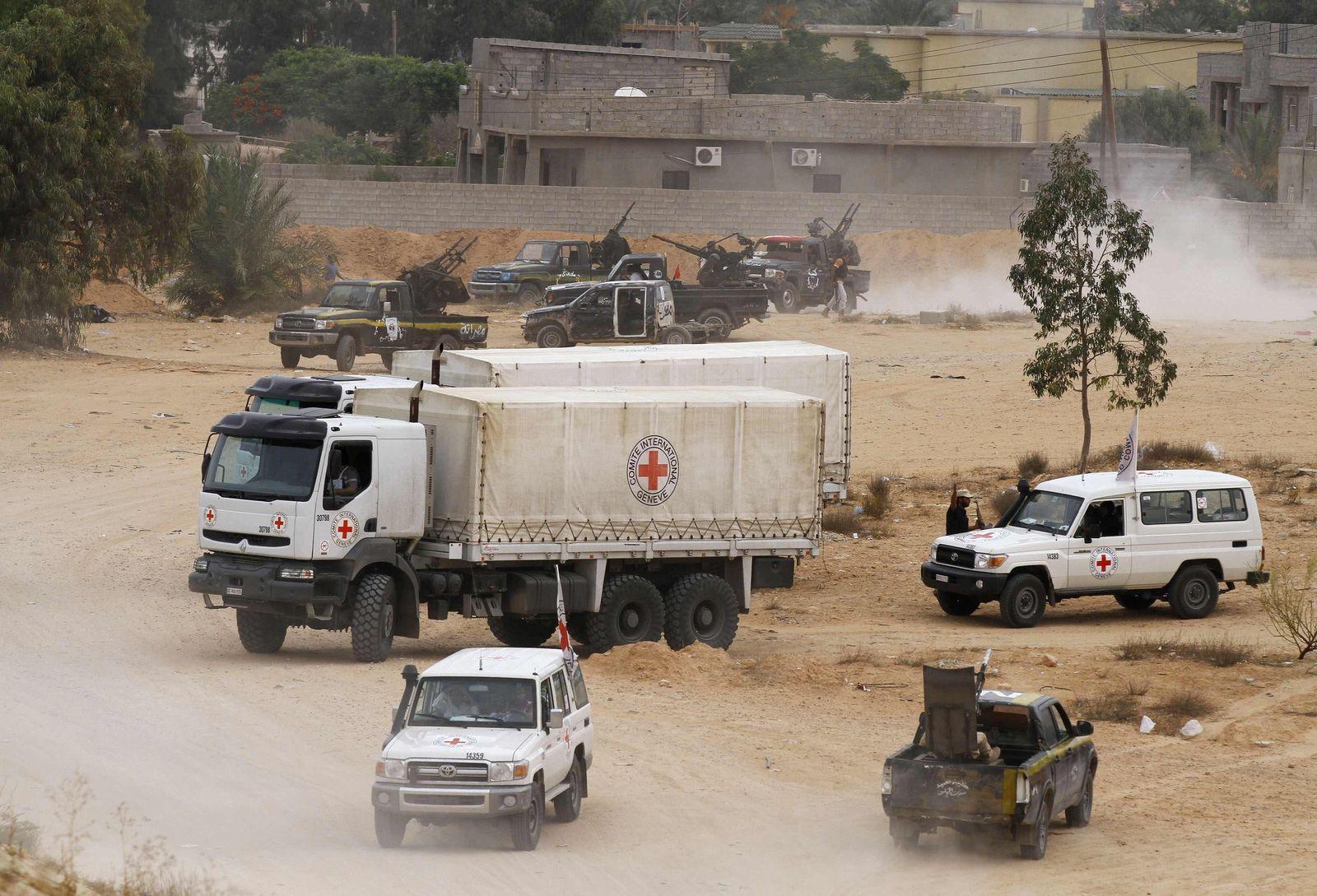 Libyen/ Sirt/ Rotes Kreuz