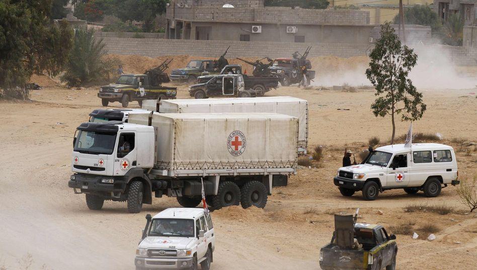 Konvoi des Roten Kreuz in Libyen: Probleme bei der Anlieferung von Hilfsgütern