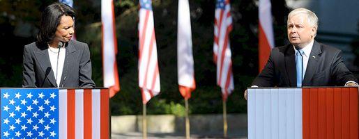 Condoleezza Rice und Lech Kaczynski: Abkommen zur Raketenabwehr