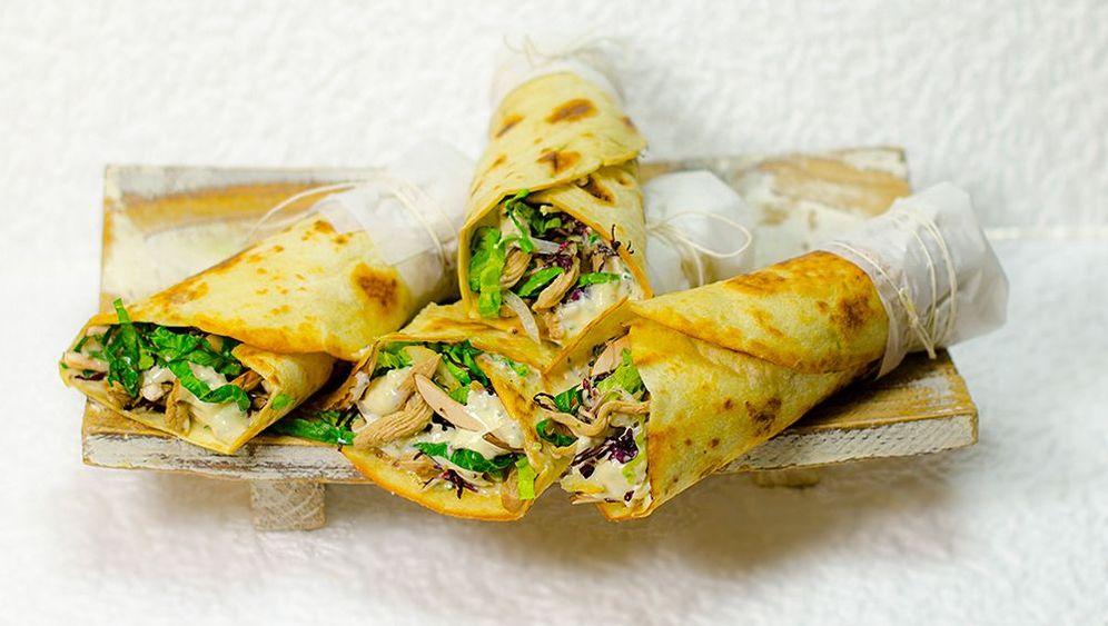 Rezept für Hühner-Wraps: Es dominiert der Streifenschnitt