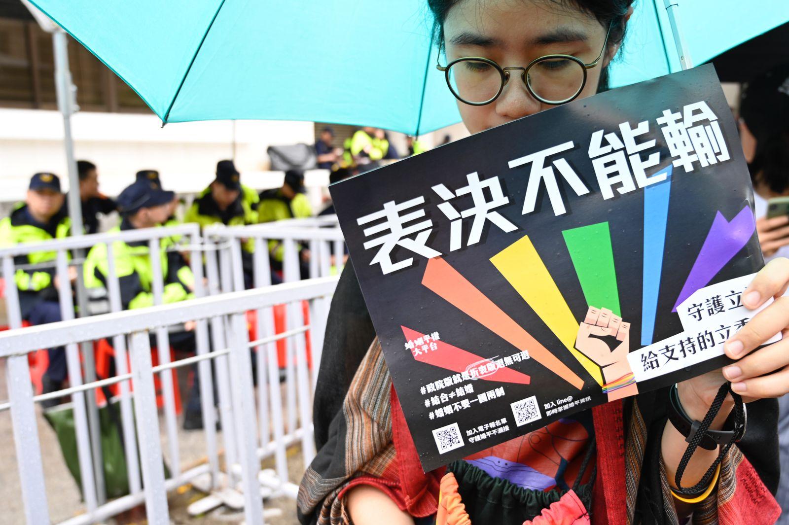 Taiwan/ Homosexuelle Ehe/ Abstimmung