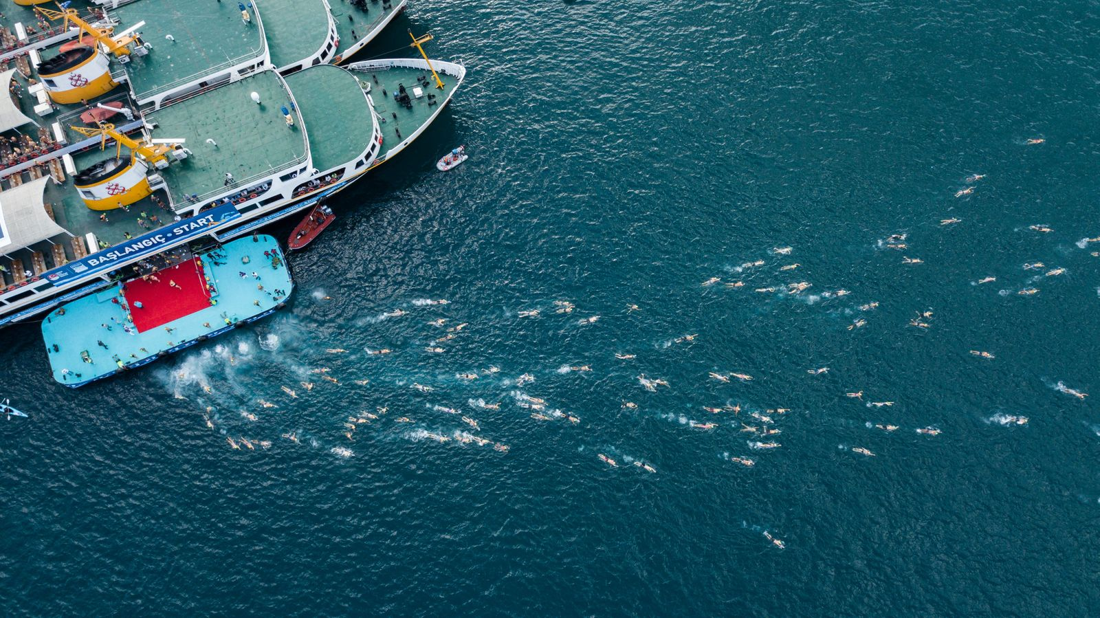 Bosphorus Cross-Continental Swimming Race in Istanbul, Turkey - 23 Aug 2020