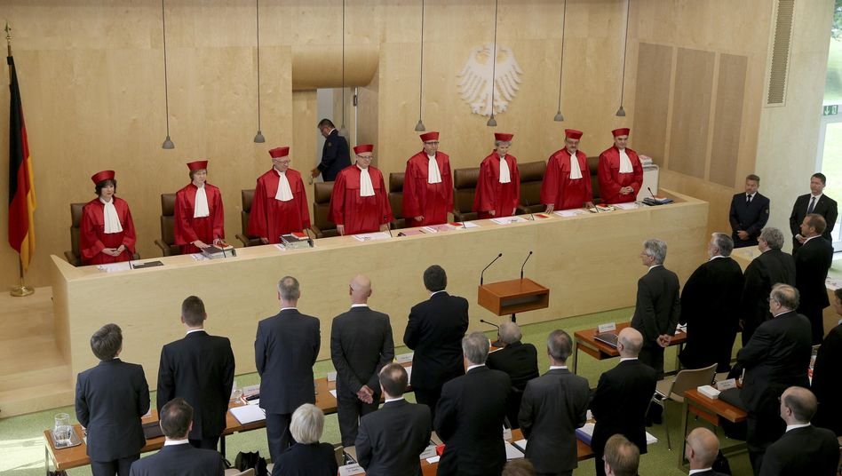 The German Constitutional Court last June during hearings on the ECB bond buying program.