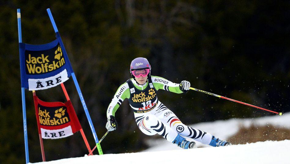 Skirennläuferin Höfl-Riesch: Platz zehn in Åre