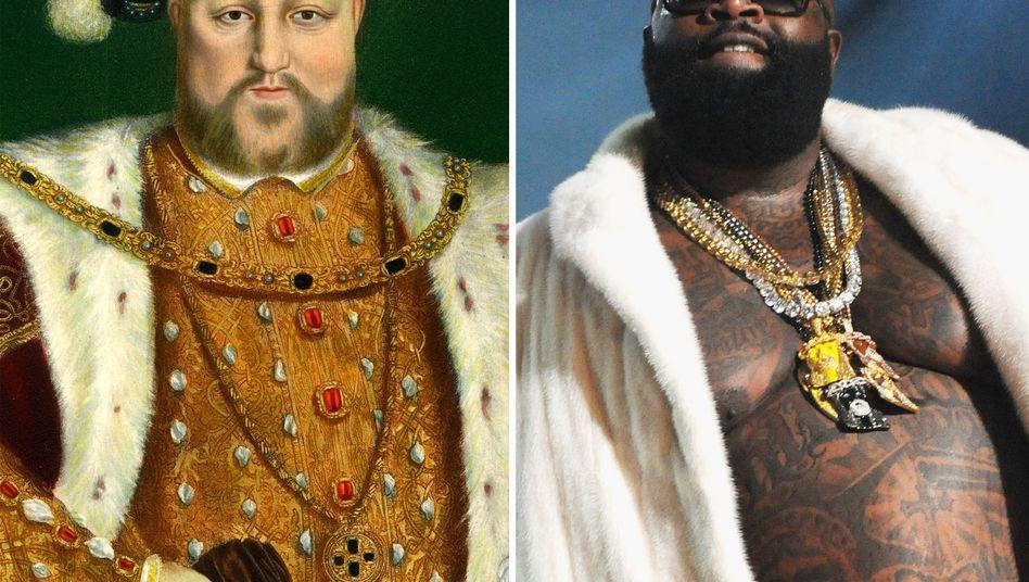 Heinrich VIII. und US-Rapper Rick Ross: Auch die beiden kommen auf dem Blog vor - hier allerdings von SPIEGEL ONLINE gegenübergestellt