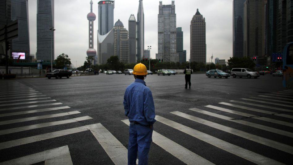 Bankenviertel in Shanghai: Furcht vor einer Finanzkrise