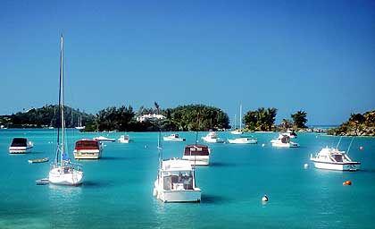 Von oben betrachtet macht die Gegend um Bermuda einen sehr idyllischen Eindruck
