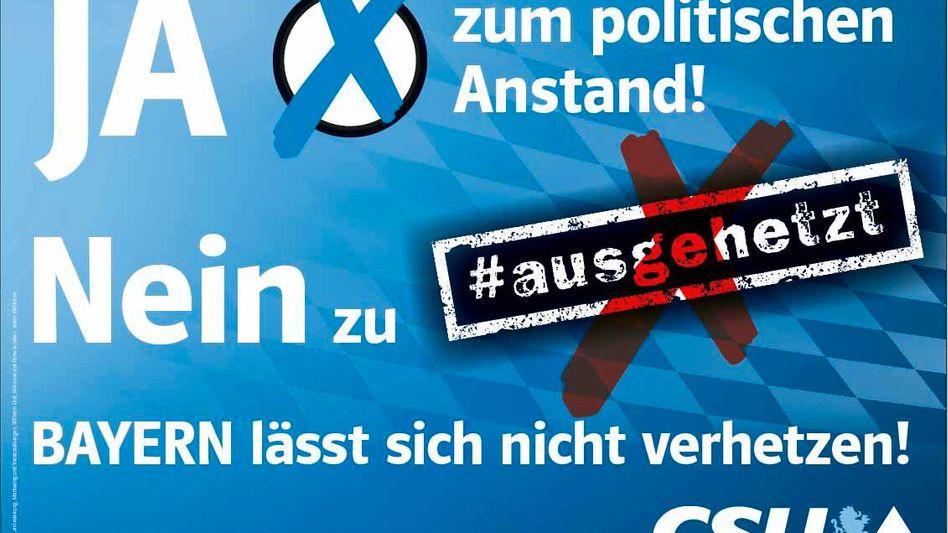 CSU Kampagne gegen Münchener Kundgebung