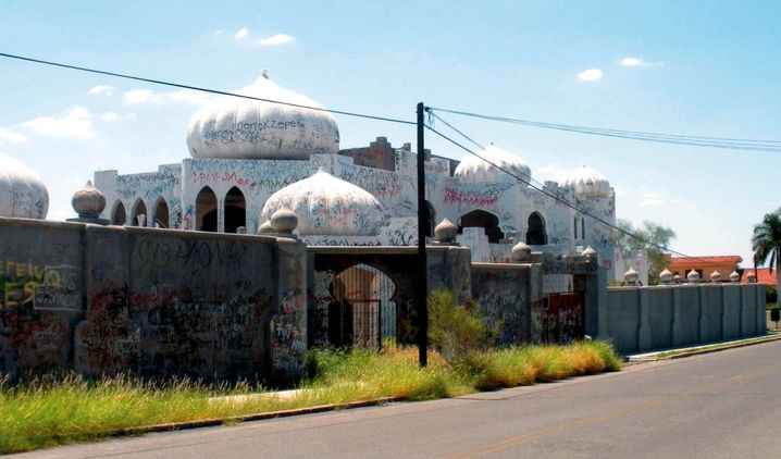 Amado Carrillo Fuentes, founder of the Juárez cartel, built this ostentatious structure in Hermosillo, Mexico.