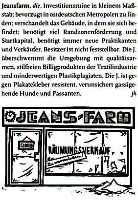 "Fiese Illustrationen: Eintrag ""Jeansfarm"""