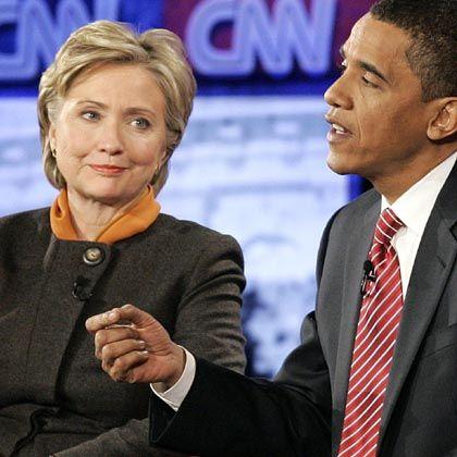 Obama (mit Clinton): Triumph in South Carolina?