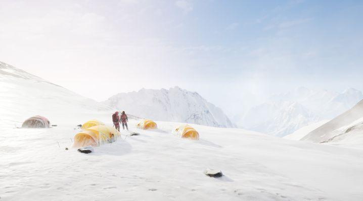 Camp am Everest