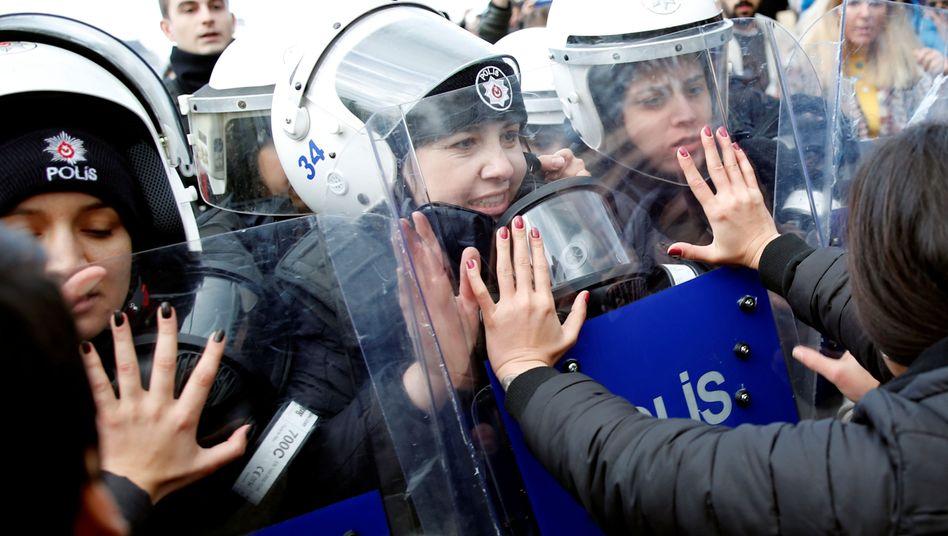 Proteste in der türkischen Metropole Istanbul