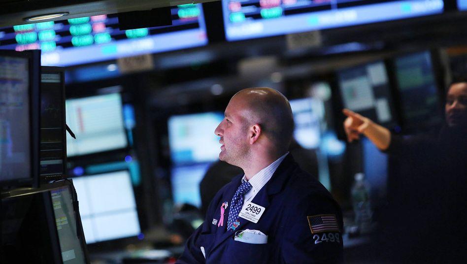 Händler an der Wall Street: Freude über neue Konjunkturhilfen der Fed