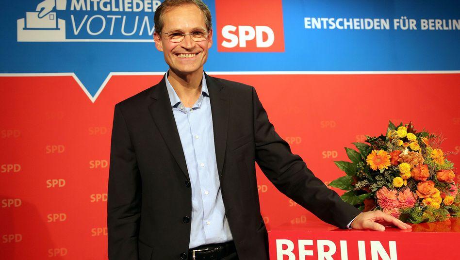So grinst ein Sieger: Michael Müller hat beim Mitgliederentscheid gewonnen