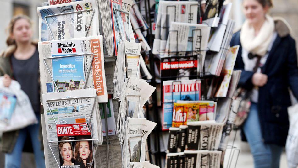 Zeitungsständer in Köln (Archivbild)