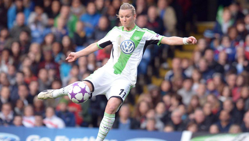 Nationalstürmerin Alexandra Popp vom VfL Wolfsburg in Aktion