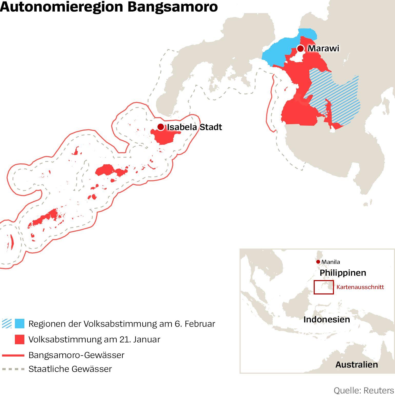 Karte - Autonomieregion Bangsamoro