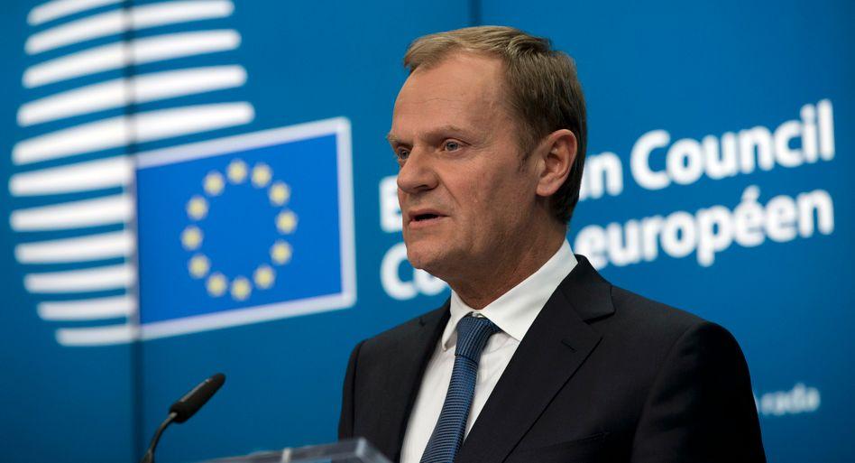 EU-Ratspräsident Donald Tusk: Auf Fortsetzung der Sanktionen geeinigt