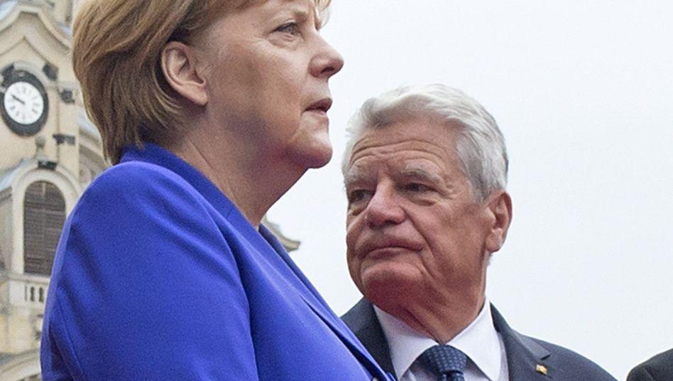 Merkel und Gauck