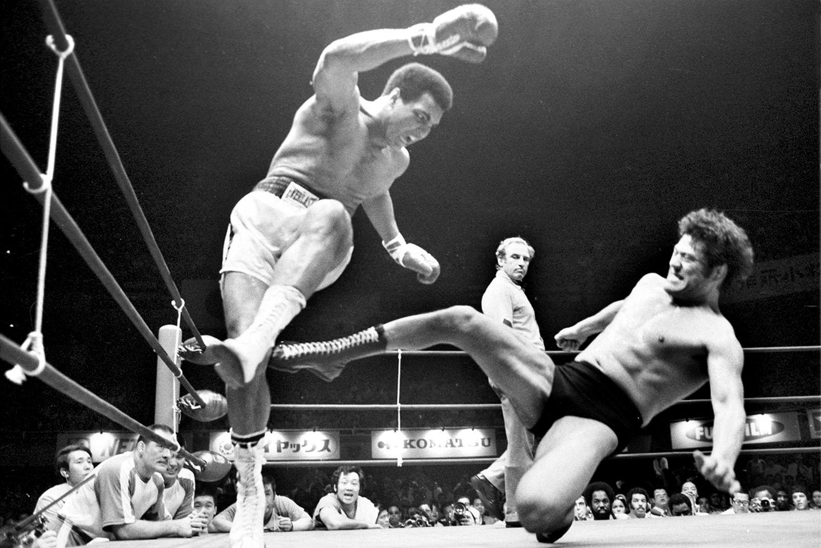 Boxer Muhammad Ali v Antonio Inoki