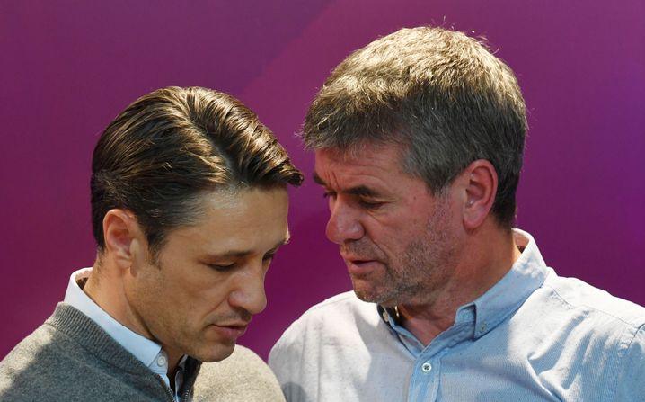 Niko Kovac (l.) und Friedhelm Funkel