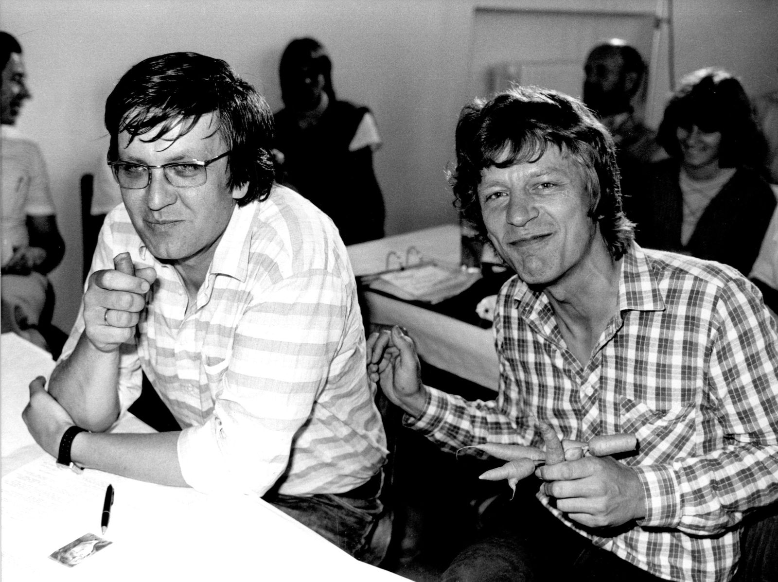 Wolf-Dieter Hasenclever und Winfried Kretschmann