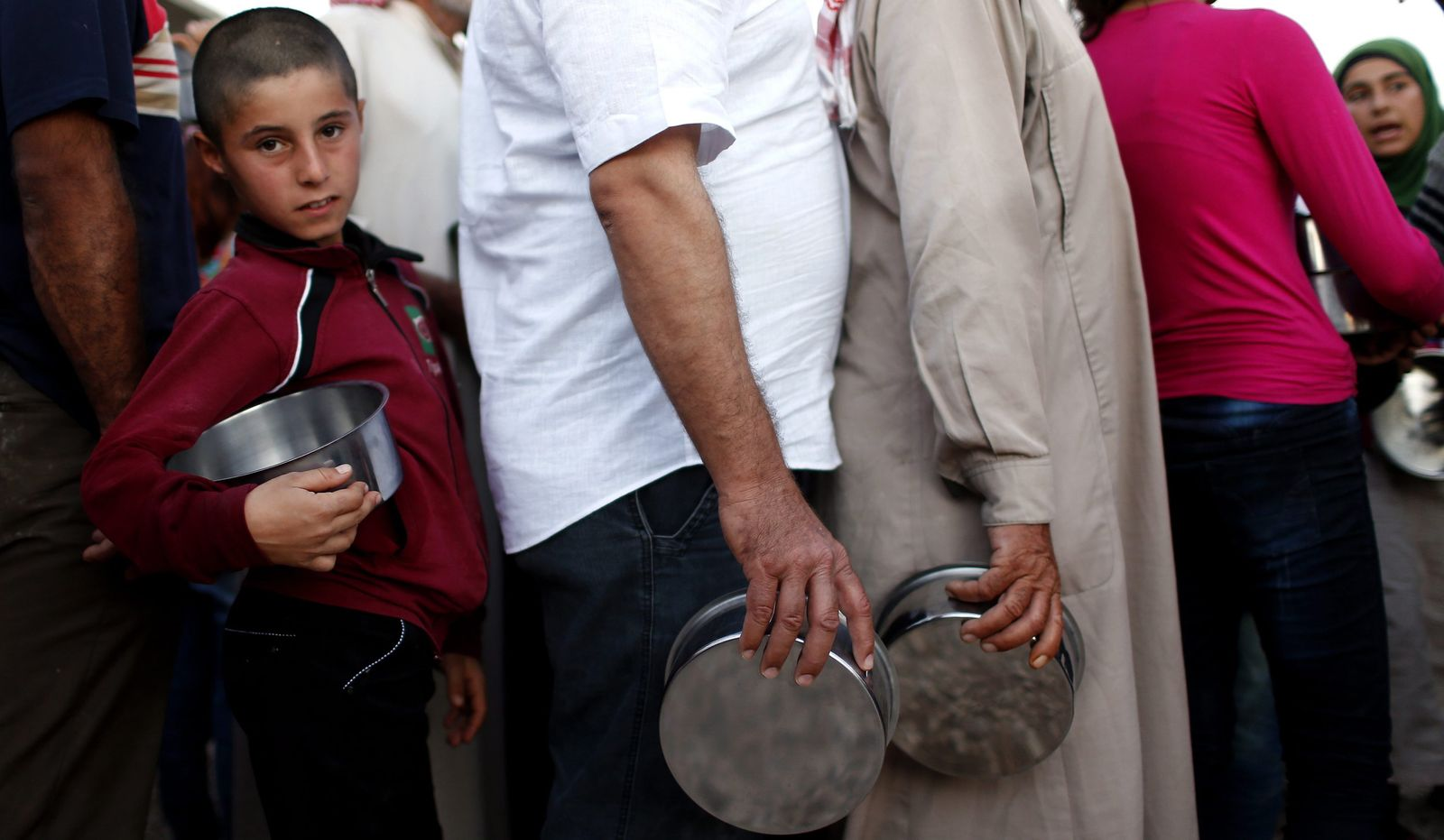 Syrien Flüchtlinge essen