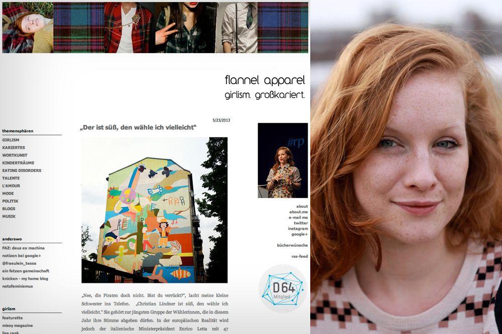 NUR ALS ZITAT Screenshot Blogger / 6_flannel