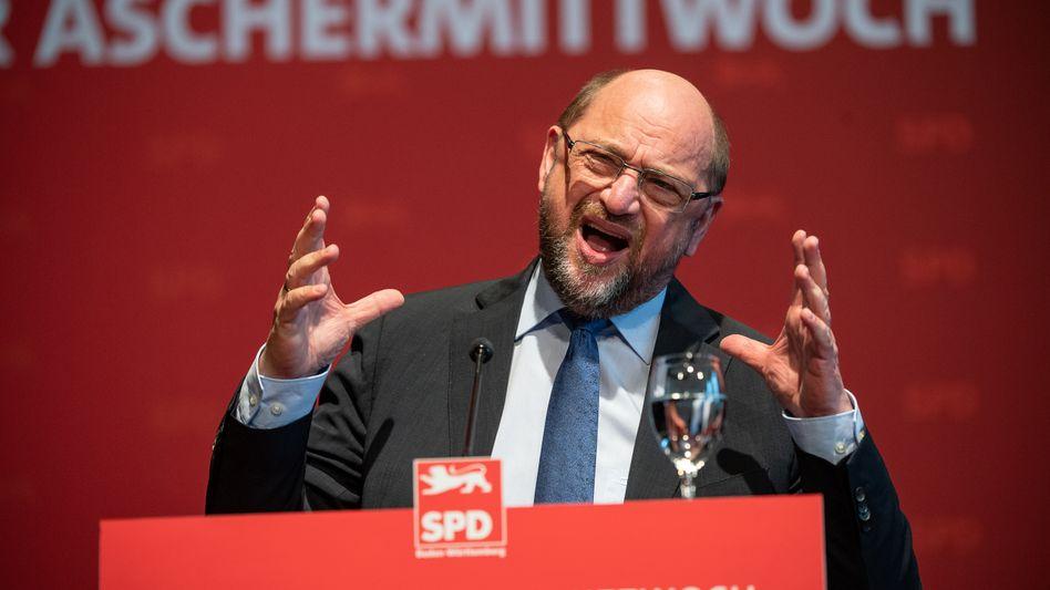 """Martin Schulz (bei einem Auftritt in Ludwigsburg im März 2019): """"Europapolitik ist mein ganzes Leben"""""""