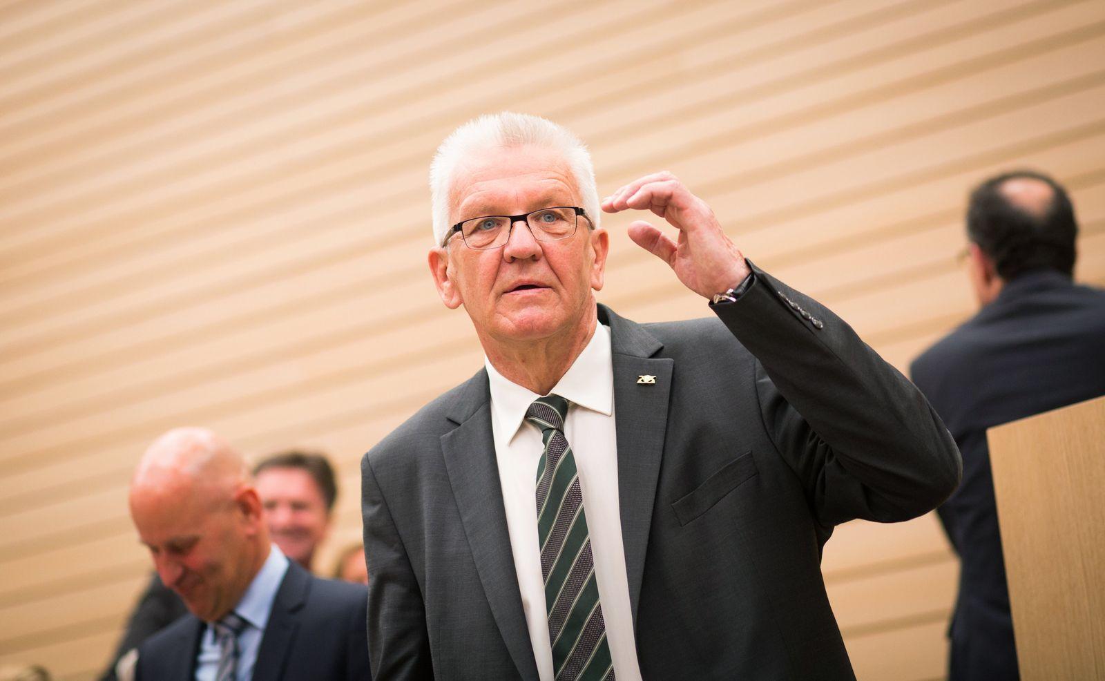 Landtag Stuttgart - Regierungserklärung