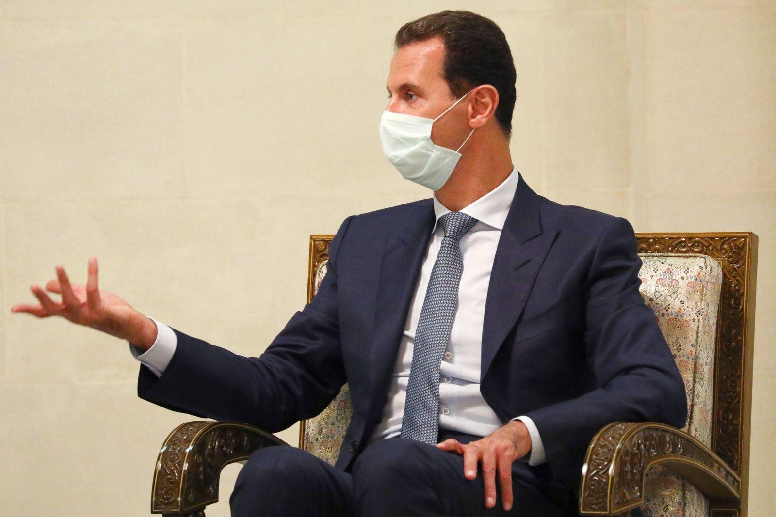 News Themen der Woche KW37 News Bilder des Tages DAMASCUS, SYRIA - SEPTEMBER 7, 2020: Syria s President Bashar al-Assad