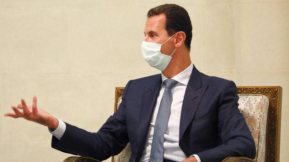 Syriens Präsident Baschar al-Assad (im September 2020): Angeblich schon geimpft