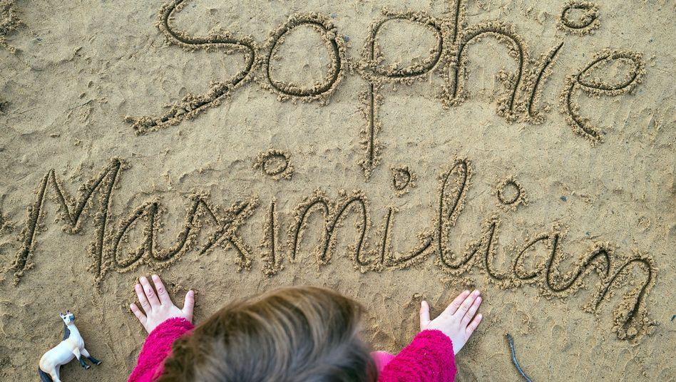 Sophie und Maximilian bleiben Dauerbrenner in Deutschlands Sandkästen