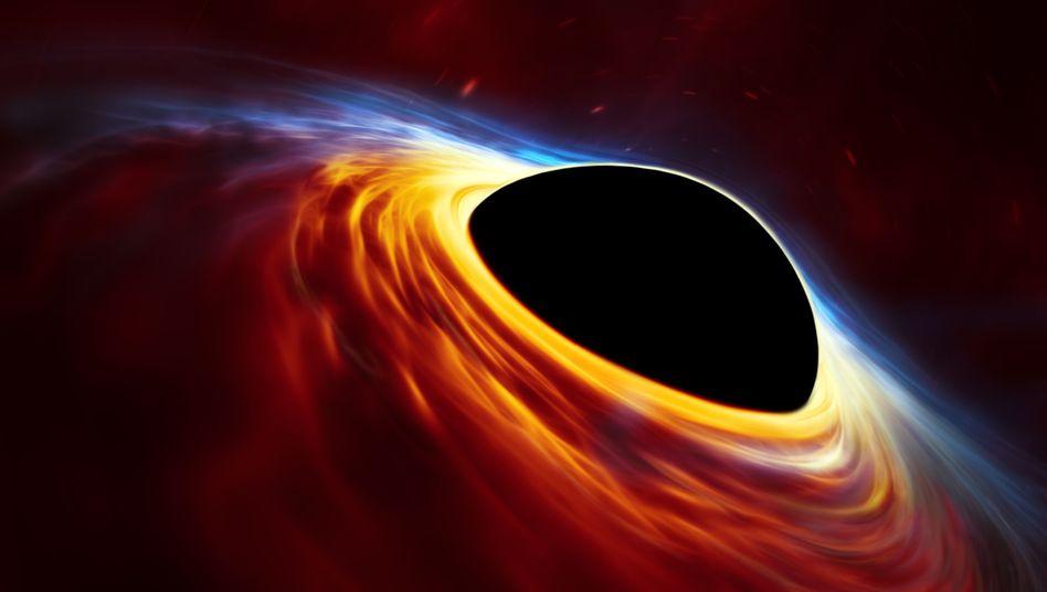 Illustration eines Schwarzen Lochs