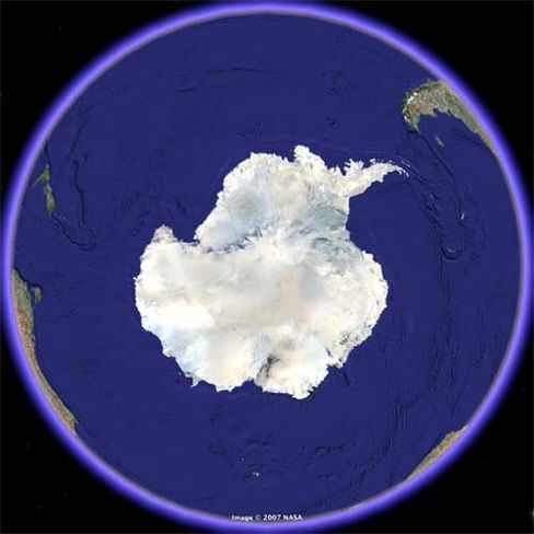 Antarktis heute: Die Größe des kreidezeitlichen Eisschildes muss rund 60 Prozent des heutigen betragen haben