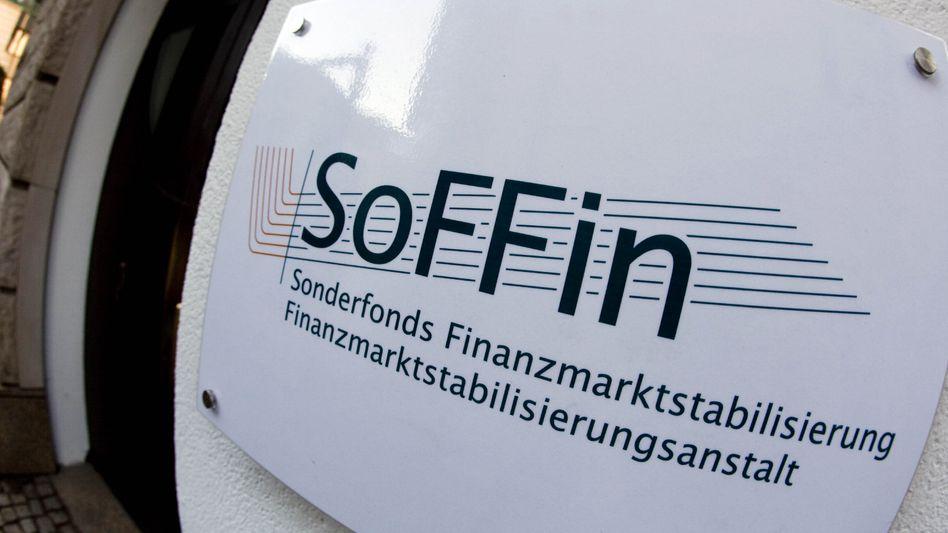 Soffin-Schild in Frankfurt am Main: Prüfer schauen den Bankenrettern auf die Finger