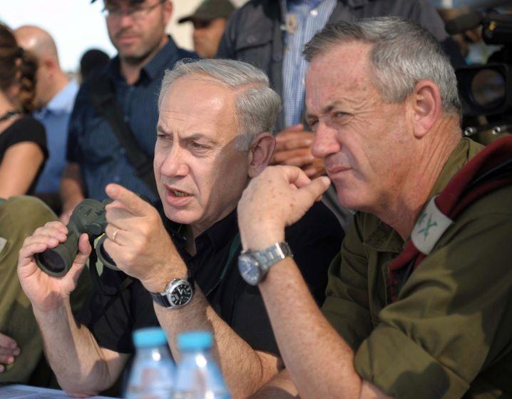 Benjamin Netanyahu und Benny Gantz (Archiv)