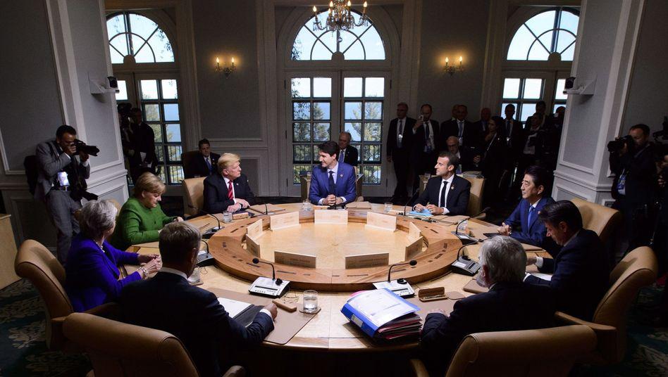 Runde der G7-Staaten im kanadischen La Malbaie