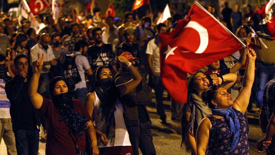 Protest in Ankara: Demonstranten organisieren sich über soziale Netzwerke