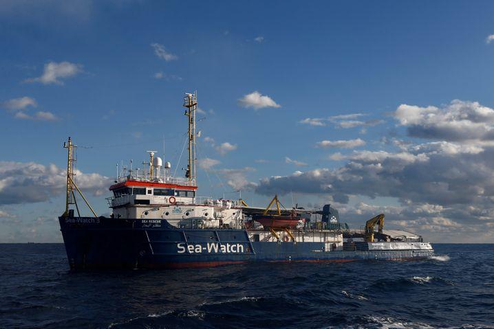 """Die """"Sea-Watch"""" am 4. Januar vor der Küste von Malta"""