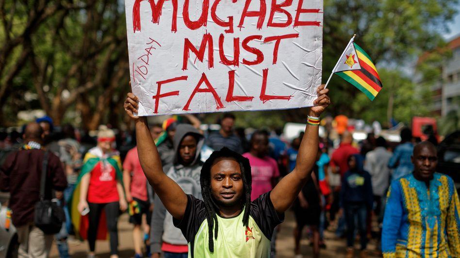 Demonstrant in Harare
