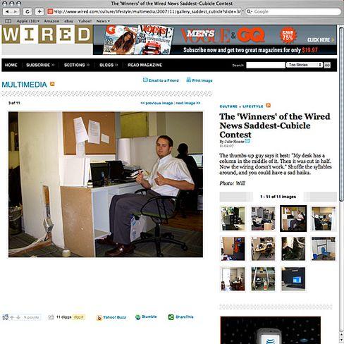 """Sieger: Ein Gewinner der """"Wired""""-Auszeichnung für die hässlichste EDVler-Bürozelle"""